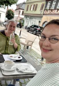 Sabine und ich am Marktplatz, Selfie